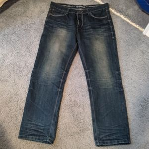 Deported skin straight olive jeans